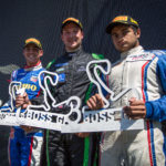 Podium of season race 3 in Zandvoort 2017.