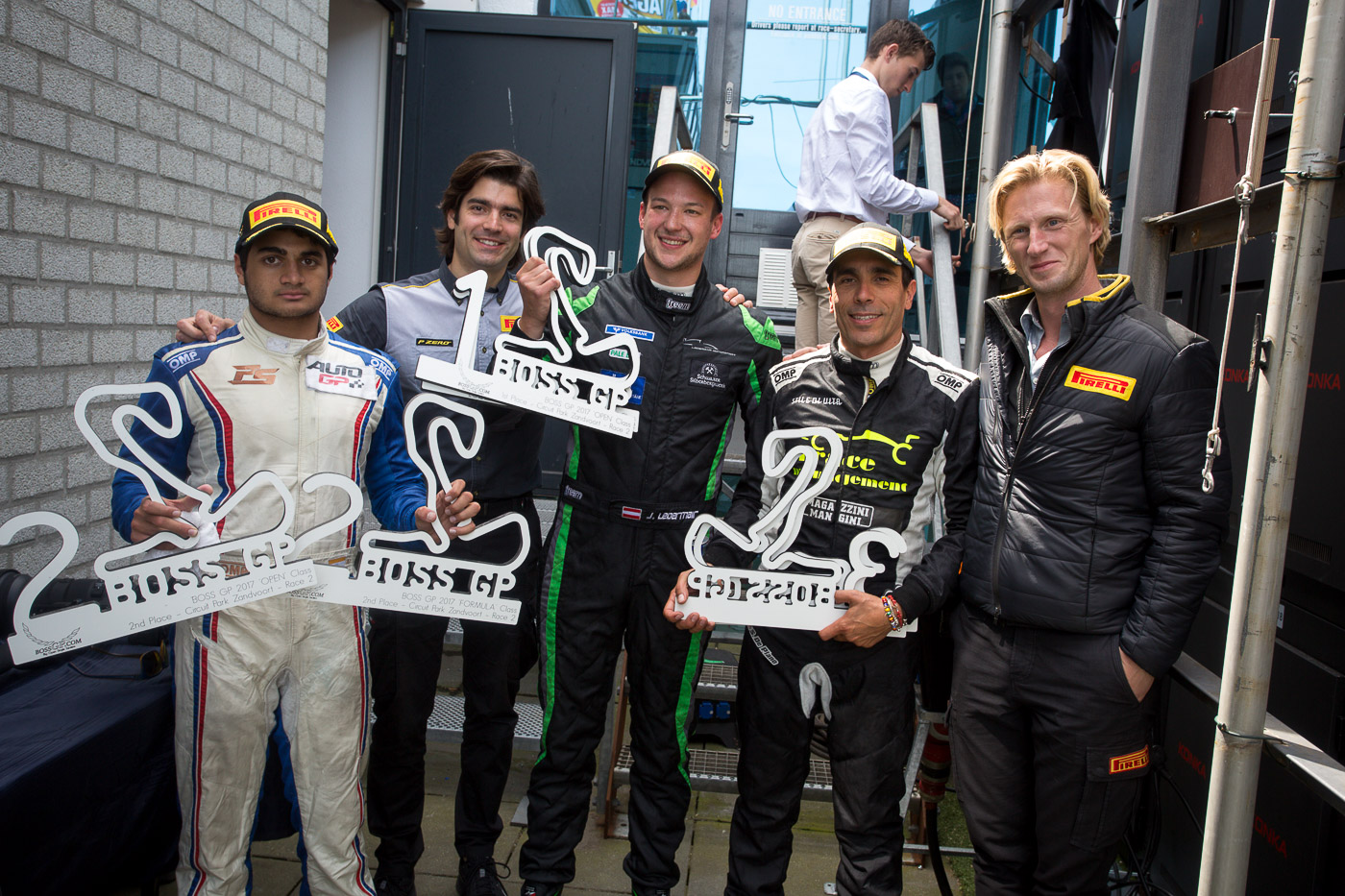 Podium of season race 4 in Zandvoort 2017 and partner PIRELLI.