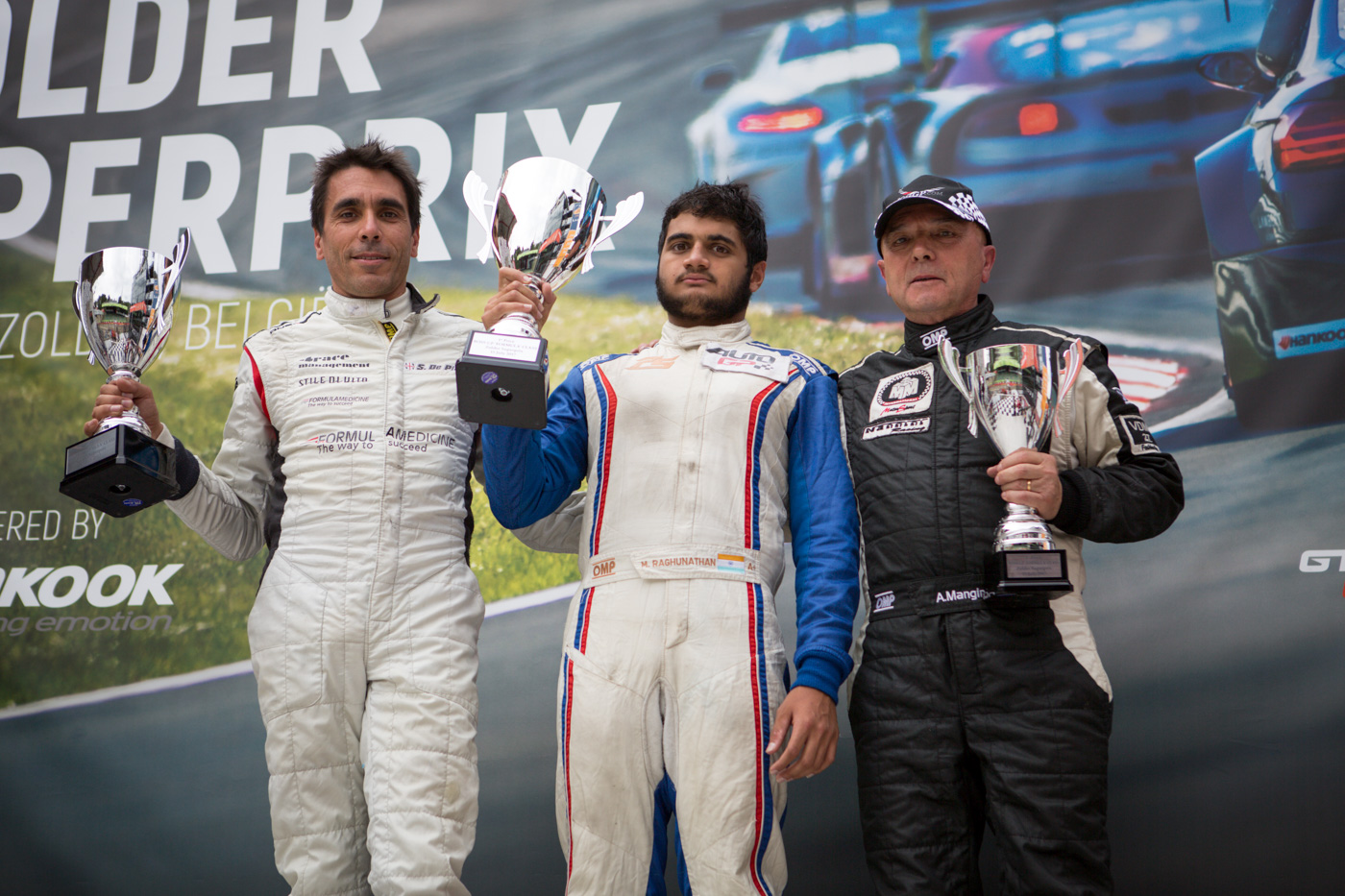 Podium of the FORMULA class at race 1 in Zolder 2017.