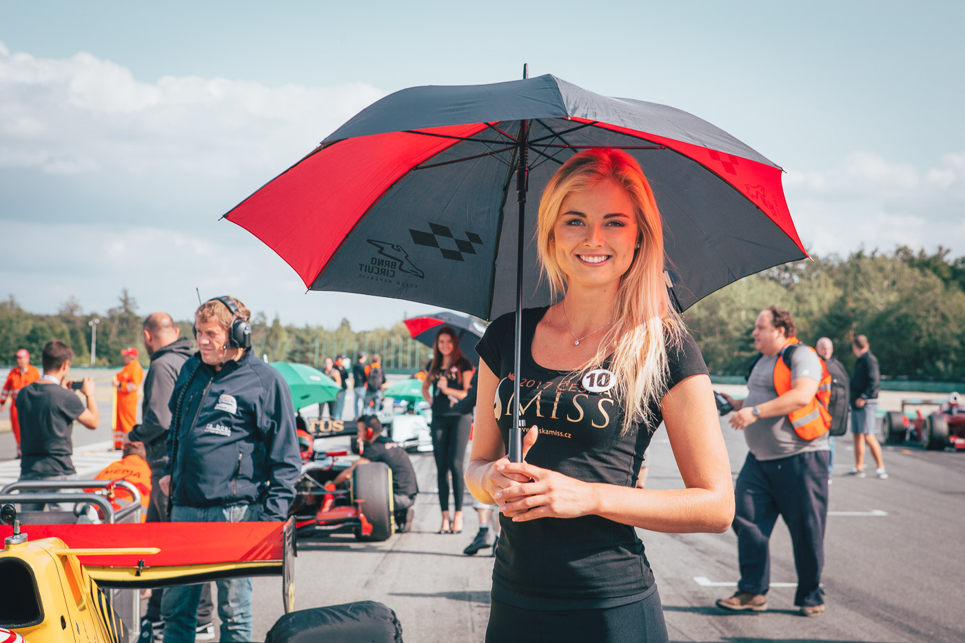 Grid Girl on BOSS GP starting grid