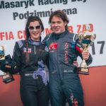 Fastest man on track in Brno, Ingo Gerstl (r.), and fastest women on the track, Veronika Cicha (l.).