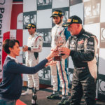 Podium ceremony of seasonrace 13 in Imola 2017.