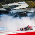 Ingo Gerstl does donuts in his Toro Rosso STR1