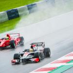 Rain makes racing very difficult